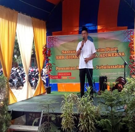 Peresmian Mushola Subulussalam disertai dengan Santunan Yatim dan Piatu