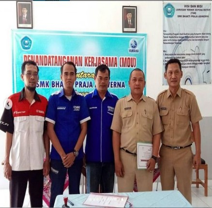 Serah Terima MOU Yamaha Agung Center Tegal